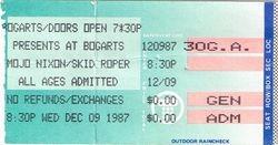 1987 Ticket