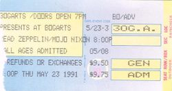 1991 Ticket