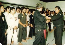 Chile, 1978...Master and instructors