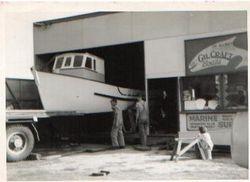 Gilcraft Boats work shop Queenscliff. 1959