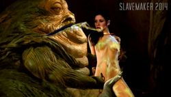 Leias Body covered in Jabba´s slime