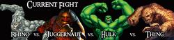 Rhino vs. Juggernaut vs. Hulk vs. Thing