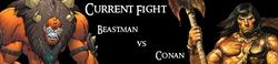 Beastman vs. Conan the Barbarian