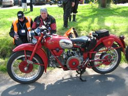guzzi at hesket rally