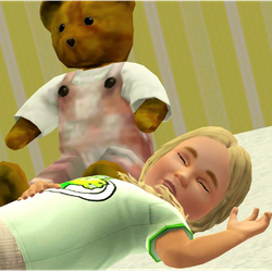 Andrea asleep by Sue D. Nim