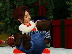Loves her bear
