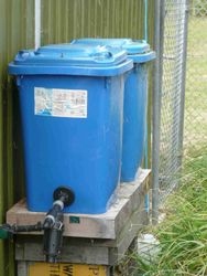 60 litre water tanks and filters