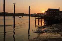 sunset at Wivenhoe
