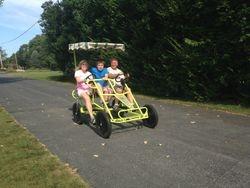 Thomas' Great cart with 36v600w brush trike kit.