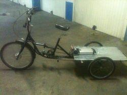 Hub motor on trike with PAS