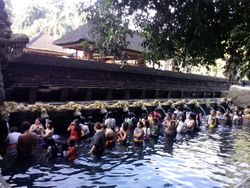 Holy water bali temple