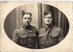 Sjt Jack Alfred Watts and (Chalky) Possible Sjt Arthur Barthram (210)