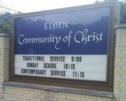 Church Sign at 1675 E Chicago St (Rt 19)