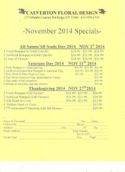 Fall 2014 Mail Order Form