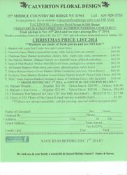 Christmas 2014 Mail order Form