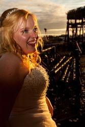Elaine Borges-Ibanez, bride, Sept 2013, UK
