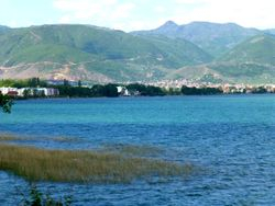 Lake Ohrid from Albanian side
