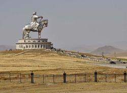 Gengis Khan statue outside U B