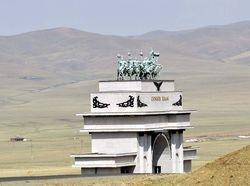 entrance gate to Gengis Khan statue