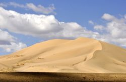huge sand-dunes in the Gobi