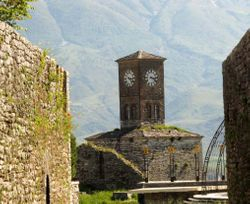 Clock at Gjirokastra castle