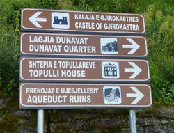 directions to sites in Gjirokastra