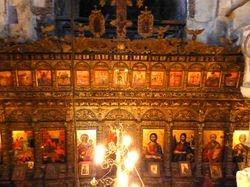 inside ancient church beyond Girokastra