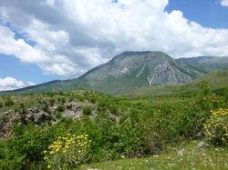 hills and mountains opposite Girokastra