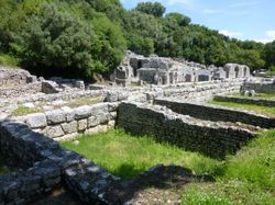 the ancient ruined town of Butrint
