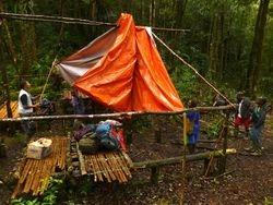 erecting camp at Camp Jepan