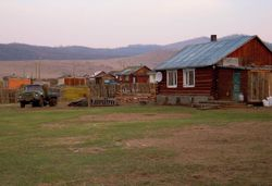 village where we stayed in a ger