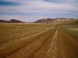 main road through the Gobi