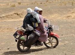 family travel in the Gobi