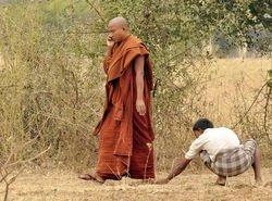monk at Bagan