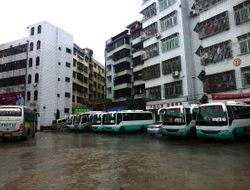 flooded bus station at Leiping