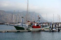 our boat mooring at Isla Graciosa