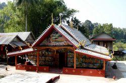 small decorated temple
