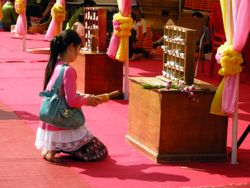 praying in the temple