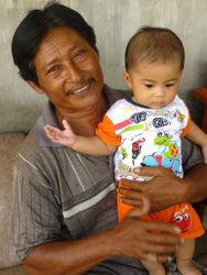 Jamil with grandson