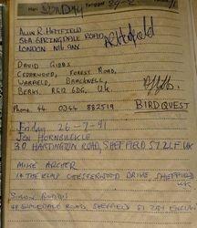 Jamil's visitors book