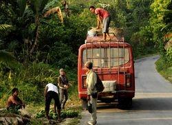public bus near Sandakan
