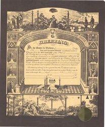 F & AM Certificate