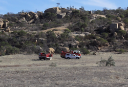Fentons Ck CFA trucks near Mt Korong