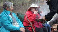 Jean, Maureen and Roberta and Bec, smoking ceremony