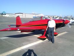 Me in front of Chris Dowell's RV-8.