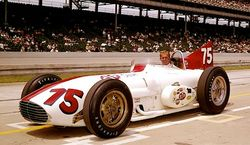 1956 Kurtis 500F in the 1963 Indy 500    Art Malone