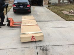 Arrival of Tailcone/Empennage Kit