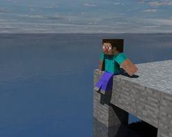 Steve at sea.