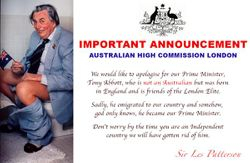 Apology from the High Commissioner