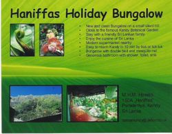 Come and visit Haniffas Holiday Bungalow